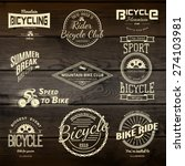bicycle set badges logos and... | Shutterstock .eps vector #274103981