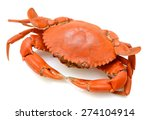 Steamed Crab On White...