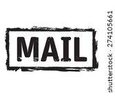 black vector grunge stamp mail | Shutterstock .eps vector #274105661