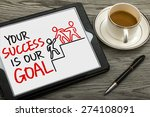 your success is our goal hand... | Shutterstock . vector #274108091