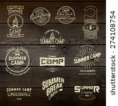 summer camp badges logos and... | Shutterstock .eps vector #274108754