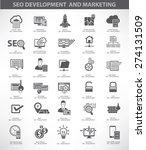 seo development and marketing... | Shutterstock .eps vector #274131509