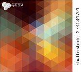 vector geometric shapes.... | Shutterstock .eps vector #274134701