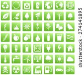 Vector Set Of Green Square...