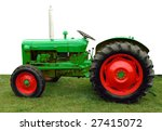 1960 Vintage Tractor Isolated...