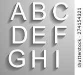 bevel english font with shadow | Shutterstock .eps vector #274154321