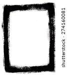 black grunge border on white... | Shutterstock . vector #274160081
