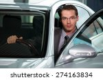 car salesperson getting in car... | Shutterstock . vector #274163834
