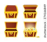 treasure chest | Shutterstock .eps vector #274166849
