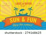 summer poster. travel agency... | Shutterstock .eps vector #274168625