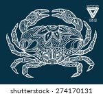 zentangle style crab vector... | Shutterstock .eps vector #274170131