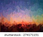abstract sunset brush strokes... | Shutterstock .eps vector #274171151