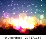 sunset brush strokes background.... | Shutterstock .eps vector #274171169