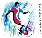 football  soccer  player... | Shutterstock .eps vector #274175291