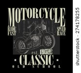 motorcycle racing typography... | Shutterstock .eps vector #274178255