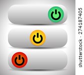 power switches  buttons in 3... | Shutterstock .eps vector #274187405