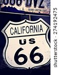 american mother road route 66... | Shutterstock . vector #274192475