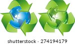 Green   Blue Recycling Signs
