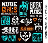 car and biker culture badges.... | Shutterstock .eps vector #274196051