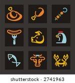 restaurant icons set. animals... | Shutterstock .eps vector #2741963