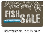 fish sale concept banner | Shutterstock .eps vector #274197005