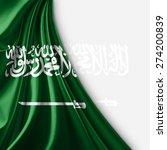 saudi arabia  flag and white... | Shutterstock . vector #274200839