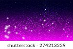 magic glow and bokeh on purple... | Shutterstock .eps vector #274213229