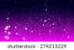magic glow and bokeh on purple... | Shutterstock .eps vector #274213229
