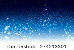 magic glow and bokeh on a blue... | Shutterstock .eps vector #274213301