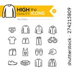 men clothes line icons series | Shutterstock .eps vector #274215809