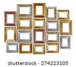set of vintage frame isolated... | Shutterstock . vector #274223105