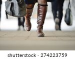 woman walking in bright light | Shutterstock . vector #274223759