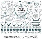hand drawn vector floral design ...
