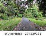Road In A Park Of Royal Botani...