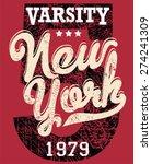 college new york typography  t... | Shutterstock .eps vector #274241309