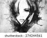 woman portrait .abstract... | Shutterstock . vector #274244561