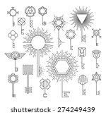 linear key set  hipster style ... | Shutterstock .eps vector #274249439