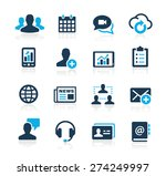 business technology icons.... | Shutterstock .eps vector #274249997