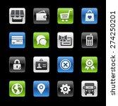 online store icons. gel box... | Shutterstock .eps vector #274250201