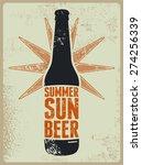 Summer  Sun  Beer. Typographic...