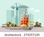 construction site  building a... | Shutterstock .eps vector #274257134