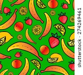 seamless pattern with colorful... | Shutterstock .eps vector #274269461