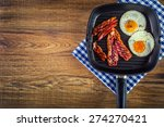 bacon and salted egg and... | Shutterstock . vector #274270421