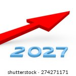 3d render year 2027 success... | Shutterstock . vector #274271171