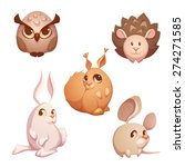 vector set of small forest cute ... | Shutterstock .eps vector #274271585