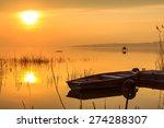 Sunset On The Lake Balaton Wit...