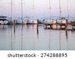 sailing boats in the marina ...