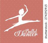 Ballet Dancer Design Over Pink...