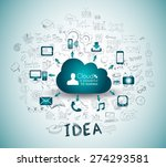 cloud computing with business... | Shutterstock .eps vector #274293581