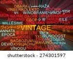 background concept wordcloud... | Shutterstock . vector #274301597